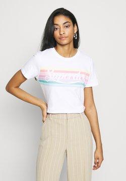 Superdry - RAINBOW ENTRY TEE - Camiseta estampada - optic