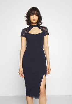 WAL G. - LATIFA DETAIL MIDI DRESS - Cocktail dress / Party dress - navy blue