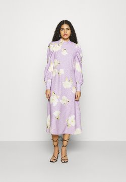 Closet - PUFF SLEEVE MIDI DRESS - Vestido informal - purple