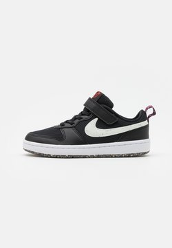 Nike Sportswear - COURT BOROUGH 2 UNISEX - Sneakers laag - black/white/bright crimson