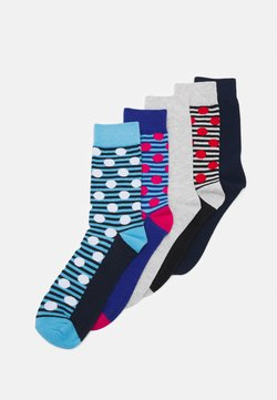 Jack & Jones - JACGEO DOTS SOCK 5 PACK - Socken - bonnie blue/dlight grey melange/surf the web/medieval blue/light grey melange