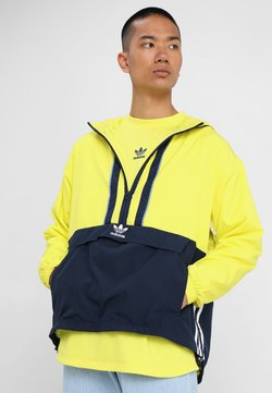 adidas Originals - AUTH ANORAK - Windbreaker - shock yellow/collegiate navy