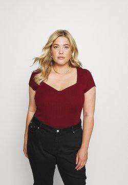 Anna Field Curvy - T-Shirt basic - bordeaux