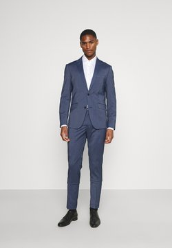 Lindbergh - STRETCH GRID CHECK SUIT - Anzug - navy