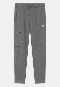 Nike Sportswear - CLUB CARGO  - Pantalon de survêtement - carbon heather/smoke grey/white