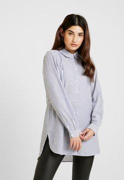 Selected Femme Petite - SLFCASSY  LONG - Camisa - vintage indigo/bright white