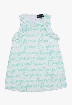 Emporio Armani - VESTITO - Cocktailkleid/festliches Kleid - white/turquoise