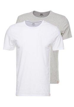 Levi's® - CREWNECK 2 PACK - T-shirt imprimé - white/heather grey