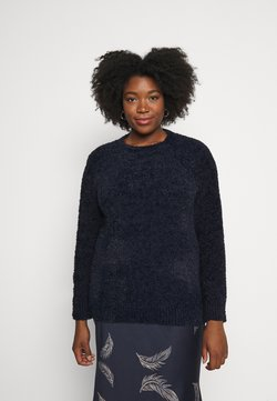 CAPSULE by Simply Be - TEDDY CREW NECK - Pullover - navy