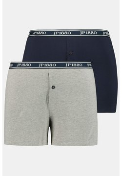 JP1880 - 2 PACK - Shorty - grau-melange, navy