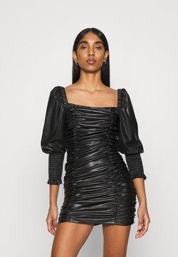 Topshop - RUCHED MINI - Etui-jurk - black