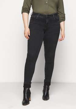 Selected Femme Curve - SLFINA WASH - Jeans Skinny Fit - black denim