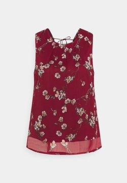 Vero Moda - VMWONDA TIE - Bluse - tibetan red/eliza