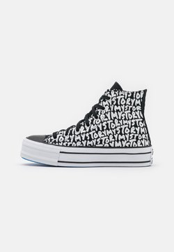 Converse - CHUCK TAYLOR ALL STAR PLATFORM MY STORY - Korkeavartiset tennarit - black/egret/digital blue