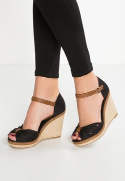 Tommy Hilfiger - ICONIC ELENA SANDAL - Højhælede sandaletter / Højhælede sandaler - black