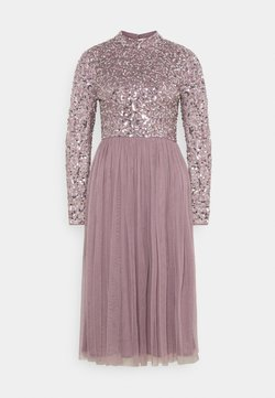 Maya Deluxe - DELICATE SEQUIN MIDI DRESS - Cocktailkleid/festliches Kleid - moody lilac