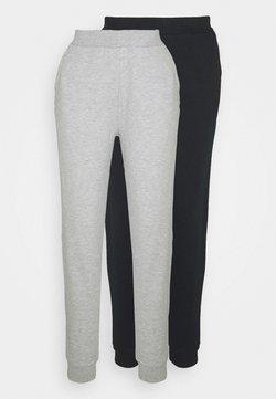 Even&Odd - 2 PACK - Træningsbukser - black/light grey
