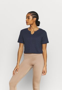 Cotton On Body - ALL THINGS FABULOUS CROPPED TEE - T-Shirt print - navy