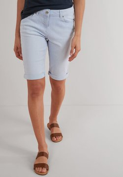 Next - KNEE SHORTS - Shorts - mottled light blue