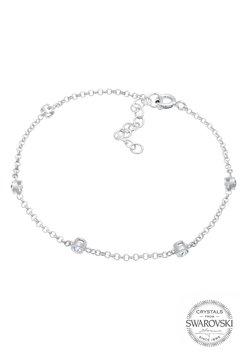 Elli - ZART FUNKELND SWAROVSKI® KRISTALLE 925 SILBER - Armband - silber