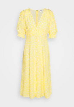Monki - AVRIL DRESS - Skjortekjole - yellow