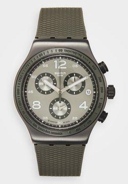 Swatch - TURF WRIST - Zegarek chronograficzny - khaki