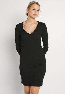 Vila - VIHAGEN V NECK BODYCON DRESS - Vestido ligero - black