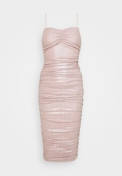 Nly by Nelly - RUCHED DRESS - Cocktail dress / Party dress - champagne