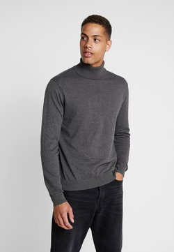 Esprit - ROLLNECK - Strickpullover - dark grey