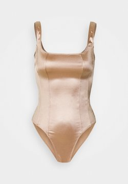 New Look - SATIN CORSET - Top - pale pink
