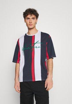 YOURTURN - UNISEX - T-Shirt print - blue/red/white
