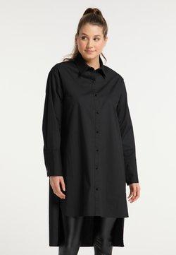 myMo - Vestido camisero - schwarz
