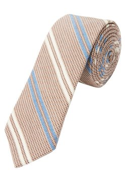 s.Oliver BLACK LABEL - Krawatte - beige stripes