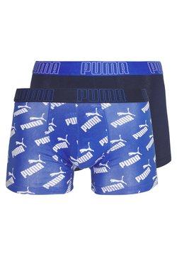Puma - BIG LOGO BOXER 2 PACK - Shorty - blue combo