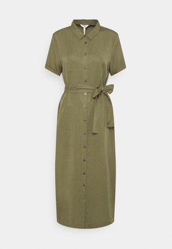 Object - OBJTILDA ISABELLA DRESS - Vestido camisero - deep lichen green