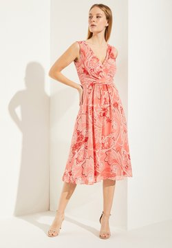 comma - MIT PAISLEY-MUSTER - Cocktailkleid/festliches Kleid - coral paisley