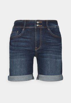 TOM TAILOR - ALEXA BERMUDA - Jeans Shorts - dark stone wash denim