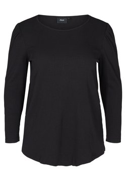 Zizzi - WITH PUFF SLEEVES - Bluse - black