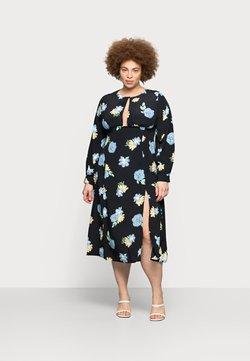 Glamorous Curve - MIDAXI DRESS WITH PUFF LONG SLEEVES - Freizeitkleid - black