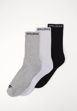 Smilodox - TRAINING SOCKS 3 PACK - Sportsocken - schwarz/weiß