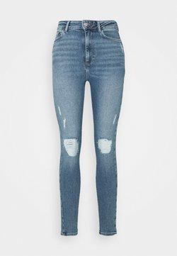 New Look - VINTAGE DISCO BUSTED KNEE KATHY - Jeans Skinny Fit - teal