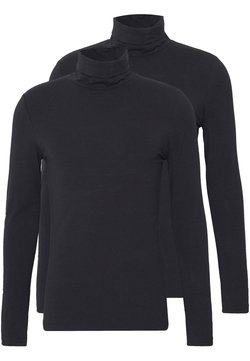 Pier One - 2 PACK - Långärmad tröja - black