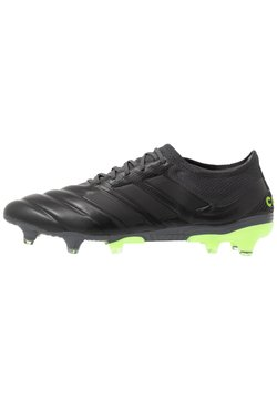 adidas Performance - COPA 20.1 FOOTBALL FIRM GROUND - Moulded stud football boots - core black/signal green