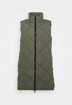 Noisy May - NMFALCON LONG VEST - Smanicato - dusty olive/black