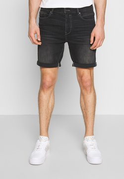 Solid - REGULAR RYDER - Jeansshort - grey denim