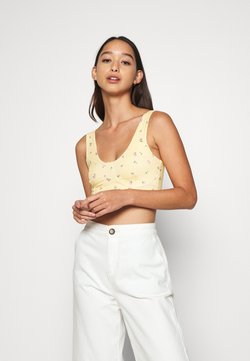 Monki - MOA SINGLET - Toppe - yellow