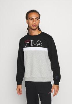 Fila - LAURUS CREW - Collegepaita - light grey melange/black/bright white