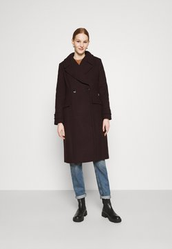 Forever New - RYLIE WRAP COAT - Mantel - deep berry