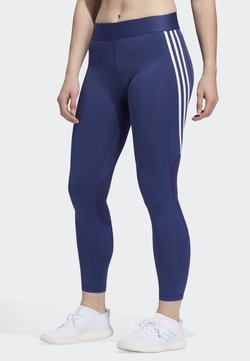 adidas Performance - ALPHASKIN 3-STRIPES LONG LEGGINGS - Trikoot - blue