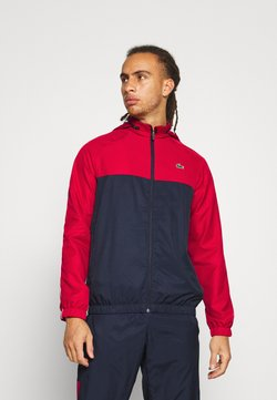 Lacoste Sport - TRACK SUIT - Träningsset - navy blue/ruby/white